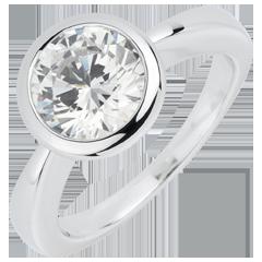 Solitario Bambolina - Oro bianco - 18 carati - Diamante - 2 carati