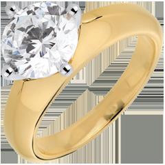 Solitario Dafne - Oro bianco e Oro giallo - 18 carati - 1 Diamante - 2 carati