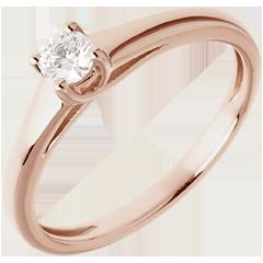 Solitario l'Essenziale - Oro rosa - 18 carati - Diamante - 0.185 carati