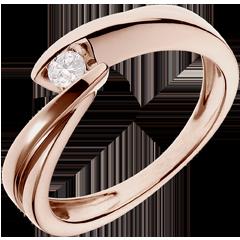 Solitario Nido Precioso - Ondina - oro rosa 18 quilates - diamante 0.1 quilates