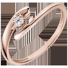 Solitario Nido Prezioso - Orione - Oro rosa - 18 carati - Diamante
