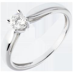 Solitario Ramoscello - Oro bianco - 18 carati - Diamante - 0.25 carati