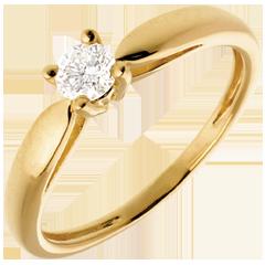 Solitario Ramoscello - Oro giallo - 18 carati - Diamante - 0.21 carati