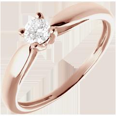 Solitario Ramoscello - Oro rosa - 18 carati - Diamante - 0.21 carati