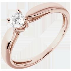 Solitario Ramoscello - Oro rosa - 18 carati - Diamante 0.25 carati