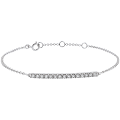Sprankelende wit gouden armband - 15 diamanten