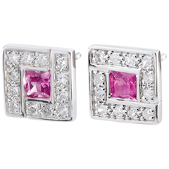 Suki Rose Earrings with Rose Sapphires