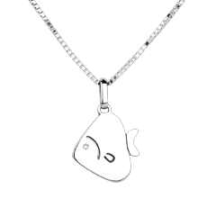 Sweet Fish - large model - white gold - 9 carat
