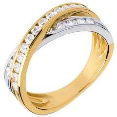 Tandem ring paved - 0.6 carat - 23 diamonds