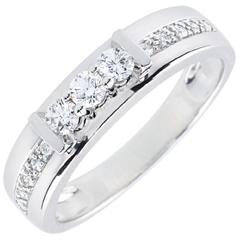 Trilogie Ring Hérine - 18 karaat witgoud