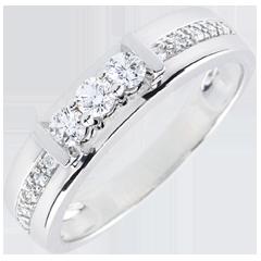 Trilogie Ring Hérine - 9 karaat witgoud