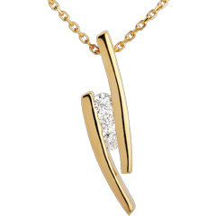 Trilogy Necklace Precious Nest - Parenthèses - yellow gold - 18 carats