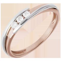 Trilogy Precious Nest - Bipoplar- pink gold and yellow gold - 0.11 carat - 18 carats