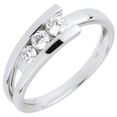 Trilogy Ring Precious Nest - Tranon - white Gold - 0.31 carats - 3 diamonds - 18 carats