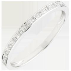 Trouwring Helder - 18 karaat witgoud met Diamant
