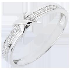 Trouwring Liefdesteken - Wit Goud Diamant