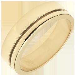 Trouwring Olympia - Groot model - geelgoud - 9 karaat goud