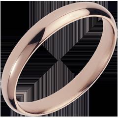 Trouwring roze goud - 18 karaat