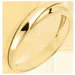 Trouwring Saturnus Trilogie - 9 karaat geelgoud