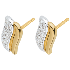 Two Gold and Diamond Magical Icon Stud Earrings