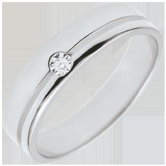 Verighetă Olympia Diamant - Model mediu - aur alb de 18K