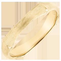 Verighetă pentru bărbaţi Junglă Sacră - 4 mm - aur galben de 18K cu lustru periat