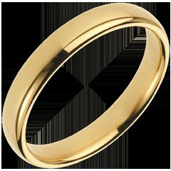 Verighetă Pură aur galben de 18K