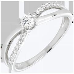 Verlobungsring Schicksal - Weißgold - 18 Karat