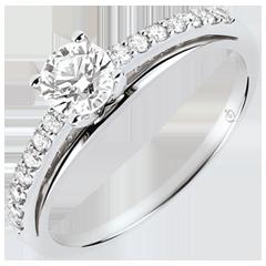 Verlovingsring - Avalon - Diamant 0.4 karaat - 18 karaat witgoud