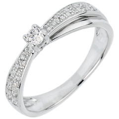 Verlovingsring Destiny - Diaphane - Diamant 0.1 karaat - 18 karaat witgoud