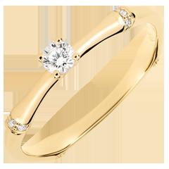 Verlovingsring Gewijde Jungle - diamant 0.09 karaat - geelgoud 18 karaat