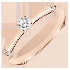 Verlovingsring Gewijde Jungle - diamant 0.09 karaat - rozegoud 18 karaat
