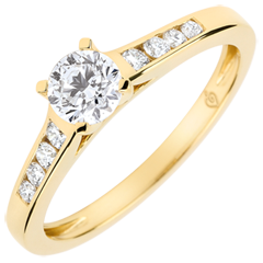 Verlovingsring Solitaire Altesse - diamant 0.4 karaat - geel goud 9 karaat
