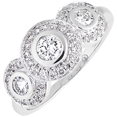 Verlovingsring Trianon - wit goud 9 karaat en diamanten