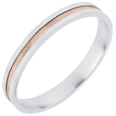 Wedding Ring - Duo all gold - rose gold and white gold