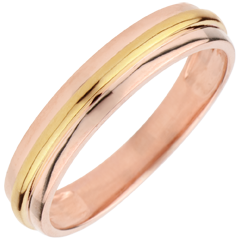 Wedding Ring Helio - Pink gold and yellow gold