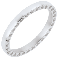 Wedding Ring In my Heart - White Gold