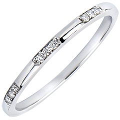 Wedding Ring Origine - Miss - white gold 18 carats and diamonds