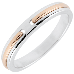 Wedding Ring Promise - rose gold and white gold - small model