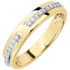 Wedding Ring Promise - yellow gold and diamonds - large model