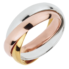 Wedding Ring Saturn Movement - large model - 3 golds, 3 rings