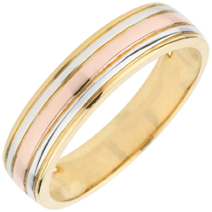 Wedding Ring Tricoloured Odysseus
