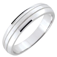 Weddingring men Cronos - brushed white gold