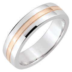 Weddingring Star - Small model - white gold, rose gold - 18 carat
