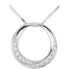 White Gold and Diamond Femme Necklace