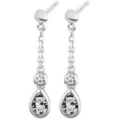 White Gold and Diamond Josephine Earrings