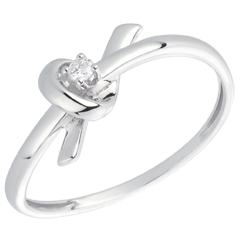 White Gold and Diamond Memory Ring