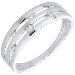 White Gold and Diamond Summer Soirée Ring