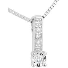 White Gold and Diamond Themis Necklace