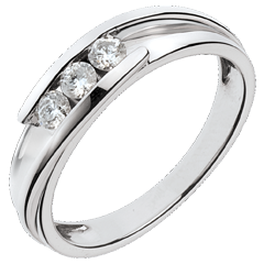White Gold Bipolaire Trilogy Ring - 0.24 Carats - 3 Diamonds